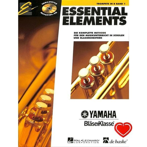 Essential Elements Band 1 - Noten für Trompete in B (+CD und Herz-Klammer)