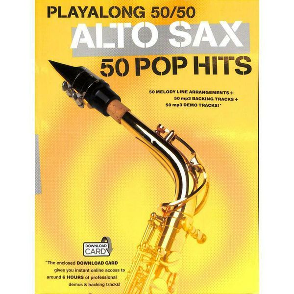 Playalong 50/50: Alto Sax - 50 Pop Hits - Noten für Alt-Saxophon 1006489