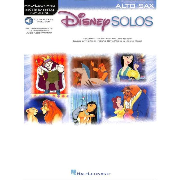 Disney Solos for Alto Sax - Altsaxophon Noten
